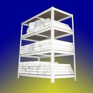Epoxy Powder Coated Metal Shelves